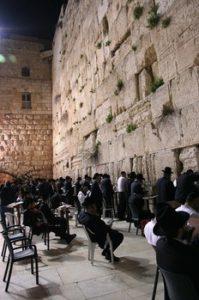 Jews praying at the Western Wall