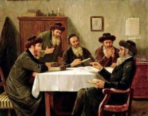 Jews Studying Torah Together