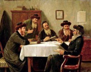 Jews Studying Torah Together