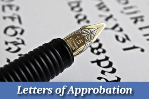 Letters of Approbation Button