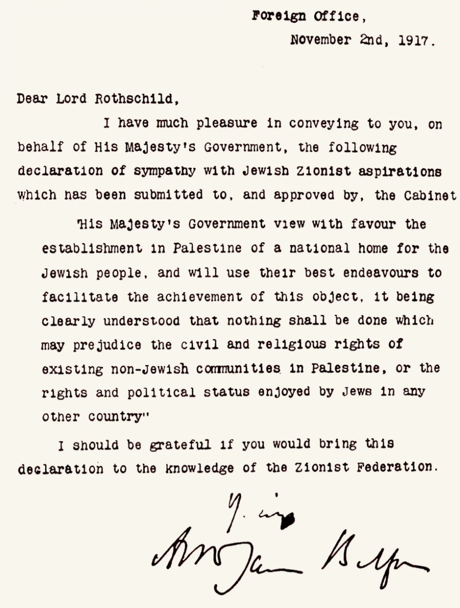 Rabbi Jonathan Sacks on the 100th Anniversary of the Balfour Declaration