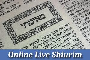 Online Live Shiurim