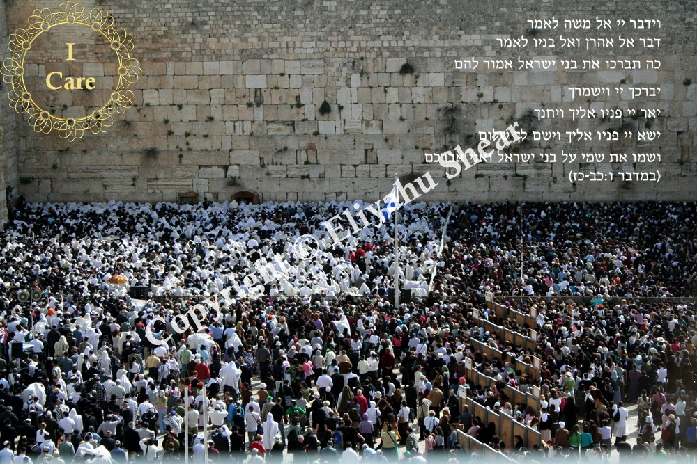 Kohanim Duchaning at the Kotel